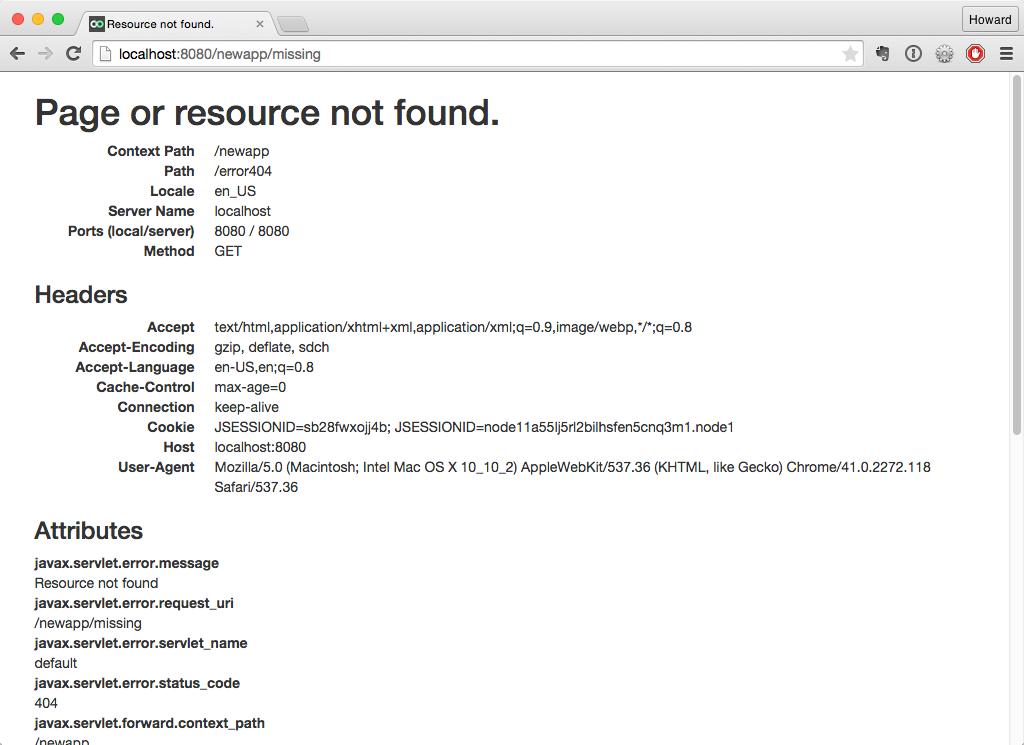 Error Page Recipe -- Apache Tapestry