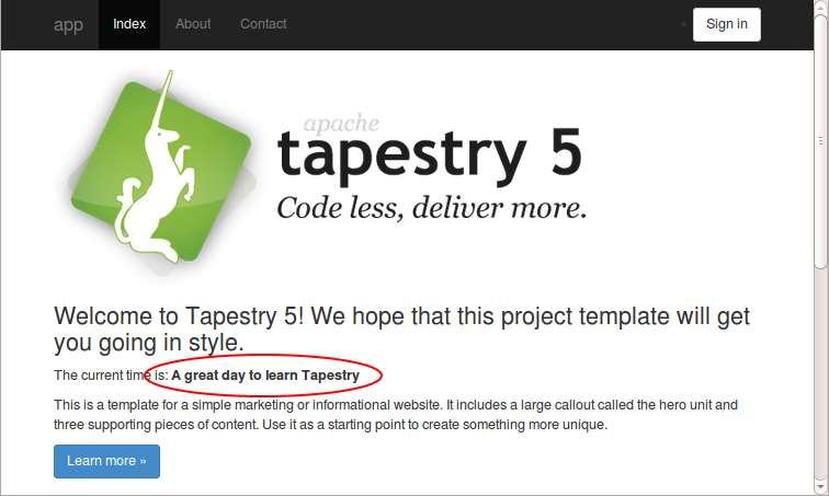 Exploring the Project -- Apache Tapestry