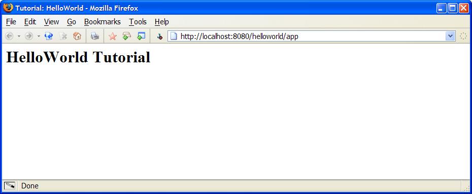 HelloWorld Step 1 Screen Shot.